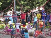 Auftritt beim Spielplatzfest